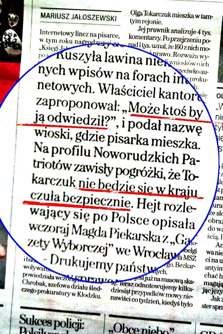 gazeta Tokarczuk