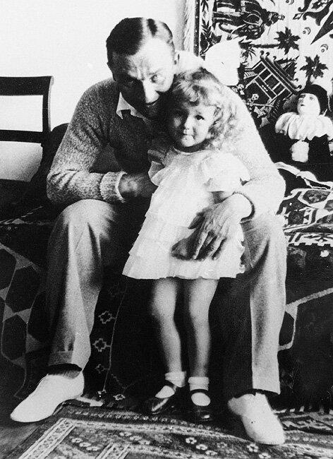 Z córką Krysią, Hrubieszów 1935